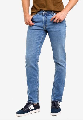 MANGO Man 藍色 修身牛仔褲 92A0AAA1DBAC1FGS_1