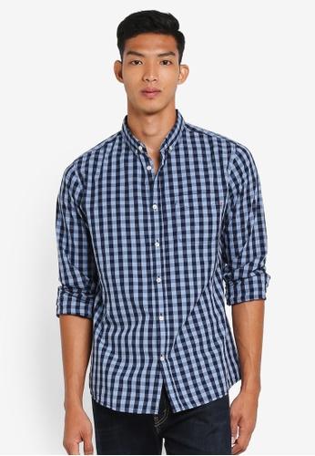 Cotton On navy Brunswick Shirt DE5EEAAF213780GS_1