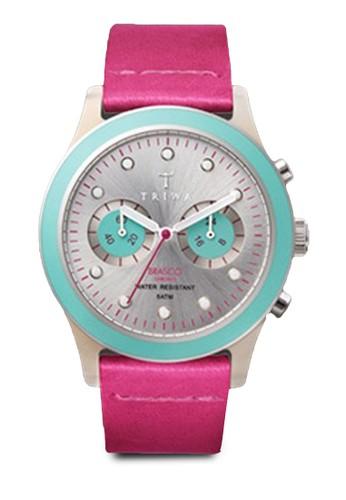 Brasco 計時撞色圓框手錶, 錶類esprit hk, 皮革錶帶