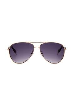 016e78f050 Furla Furla SFU050 Gold Sunglasses FU454AC0RAMNMY 1