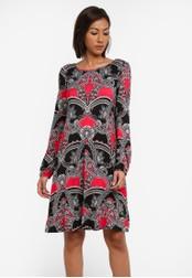 Wallis red Berry Paisley Swing Dress WA800AA0SACQMY_1