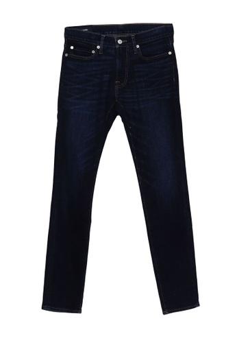 Abercrombie & Fitch blue Super Slim Dark Jeans 21A92AAC744E49GS_1