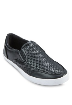 Embossed Weave Slip On Sneakers