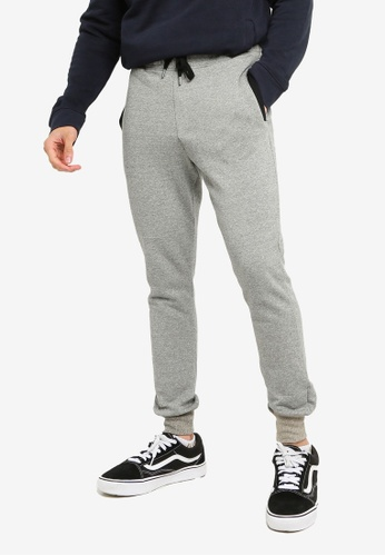 Brave Soul grey Side Entry Pockets Joggers 836FEAADE1FC5EGS_1