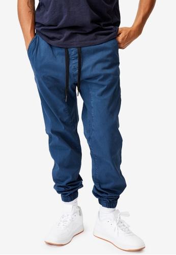 Cotton On 藍色 Drake Cuffed Pants EB215AA479BB4AGS_1