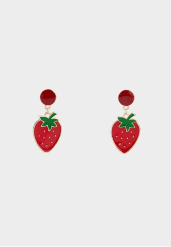 Pomelo red Strawberry Drop Earrings - Red 749EFAC05E11DDGS_1