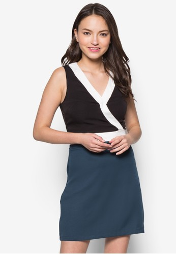 Blair 色塊esprit 價位裹飾連身裙, 服飾, 洋裝