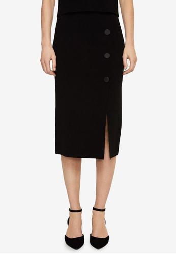 Mango black Buttoned Midi Skirt 8C18DAA32D5EC5GS_1