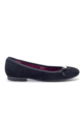 Shu Talk black Charms Suede Leather Flats SH397SH0GRC6SG_1