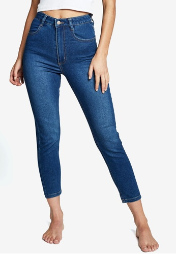 Cotton On blue High Rise Cropped Super Stretch Jeans F23EFAA88BA7AFGS_1