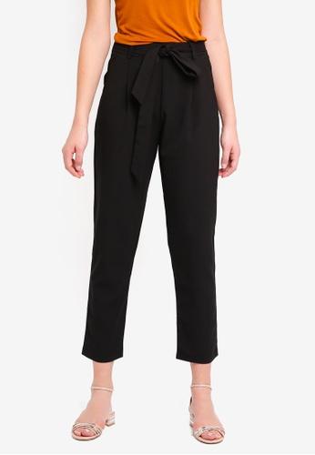 Glamorous black Wrap Tie Pants C0E5DAACF91DF0GS_1