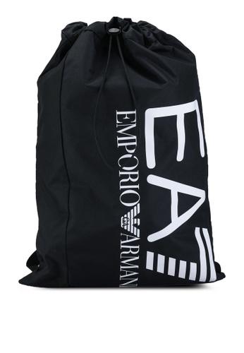 EA7 black Train Core Sack Bag EDB76AC41838BBGS_1