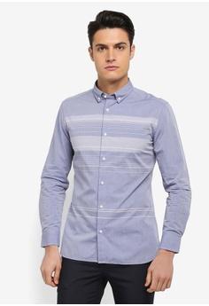 e77936dbc8 G2000 blue Irregular Stripe Cotton Long Sleeve Shirt DBBE8AADE0A29EGS 1