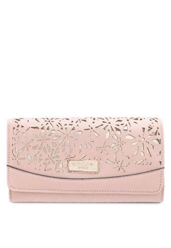 Unisa pink Perforated Facile Ladies Bi-Fold Wallet 32B66AC6DBF280GS_1
