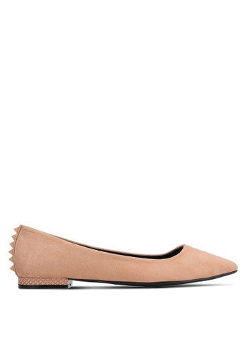 Something Borrowed beige Suede Pointed Flats 2C6B6SH7FBA2DAGS_1