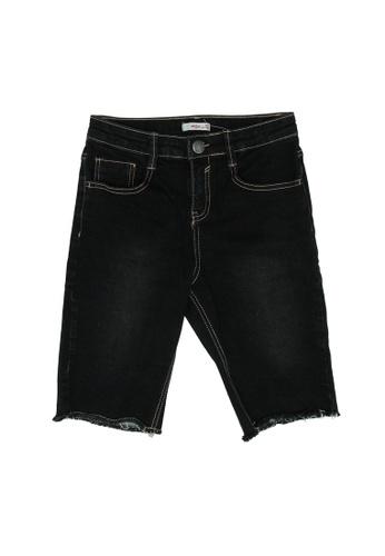 FOX Kids & Baby black Dark Denim Long Shorts 09E20KAD17E365GS_1