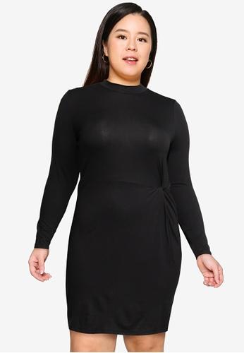 Vero Moda black Plus Size Nora Jersey Dress 3F045AAA8328D8GS_1