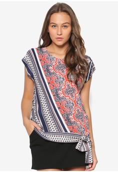 Paisley Print Tie Side Top