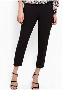 【ZALORA】 Black Double Loop Ankle Grazer Trousers