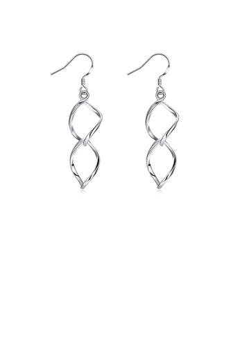 Glamorousky silver Romantic Simple Fashion Leaf Earrings AA88CACD6FEB80GS_1