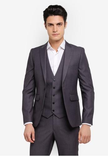 Burton Menswear London grey Skinny Grey Essential Suit Jacket BU964AA0SR8IMY_1