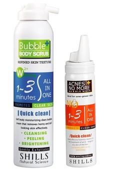 Acnes No More + Bubble Body Scrub