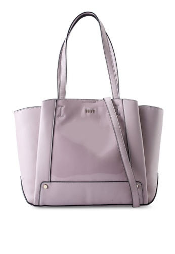 ELLE purple Gloria Tote Bag 77D12AC3B2FC0FGS_1