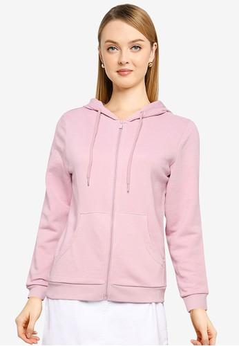 OVS purple Full-Zip Hood And Pocket Sweatshirt 4874DAA2036F4DGS_1