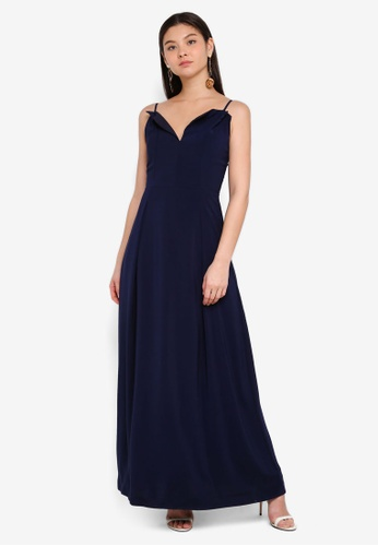 Preen & Proper navy Strap Maxi Dress 4D893AA1A76599GS_1