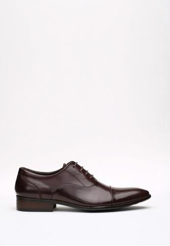Kings Collection brown Roda Oxford Shoes KI358SH53DFYSG_1