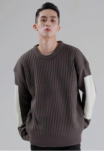 拼色細節針織長esprit macau袖, 服飾, 外套