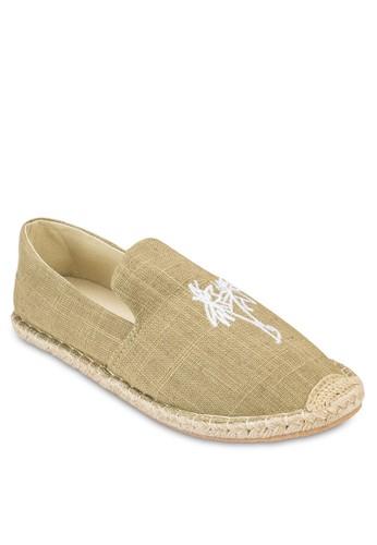 棕櫚樹圖案esprit home 台灣麻編懶人鞋, 鞋, 鞋