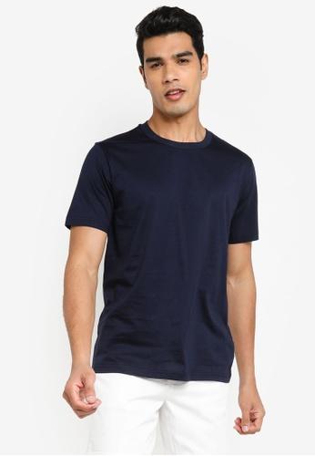 Urban Revivo blue Casual T-Shirt 2D257AAF8847DCGS_1
