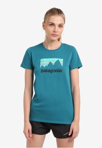 Patagonia blue Shop Sticker Responsibili-Tee PA549AA0RQDZMY_1