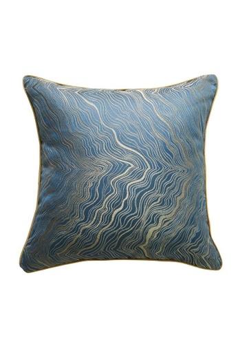 DILAS HOME blue Oriental Jacquard Cushion Cover (Blue) CC564HLFBCBFA9GS_1
