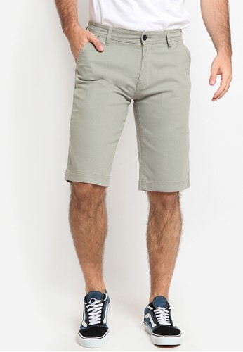 Police Denim green Chinos Short Pants 66148AAAF4F127GS_1