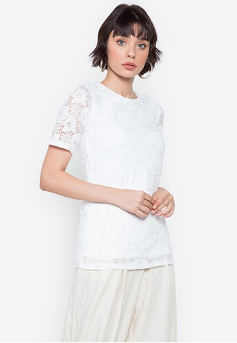Hug white Lacy Corded Lace Blouse 530EDAA0F04230GS_1