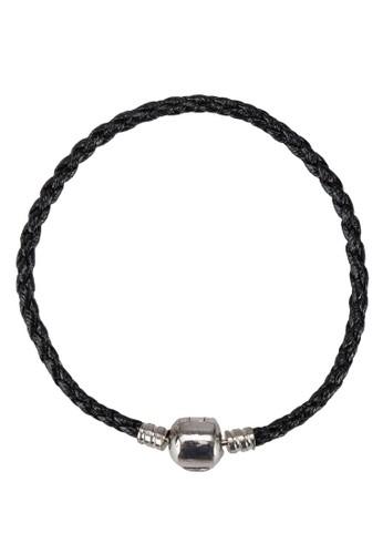 Collier 亮黑編織手鐲, 飾品配件, 手鐲 &amesprit衣服目錄p; 手環