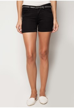 Low Waist Four Inch Non-Denim Shorts