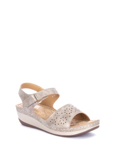 3bfdcbe6e 38% OFF Mnicole Laser-cut Wedge Sandals Php 1,599.00 NOW Php 999.00 Sizes  37 38 39 40