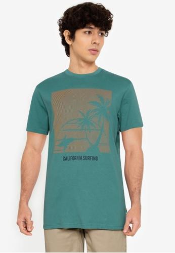 Springfield green Beach T-Shirt 99761AADFC8826GS_1