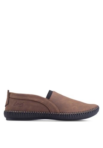 Louis Cuppers brown Casual Slip Ons LO977SH36ZLJMY_1