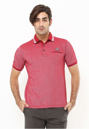 LGS red Regular Fit - Polo Shirt - Aksen Ring - Kontras Warna - Merah 99498AA528C268GS_1