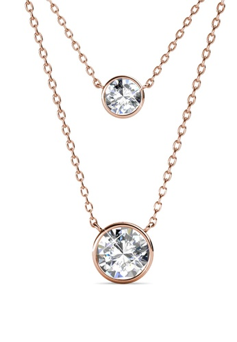 Her Jewellery gold Juliet Pendant (Rose Gold) - Made with premium grade crystals from Austria C3F7EAC92450A0GS_1