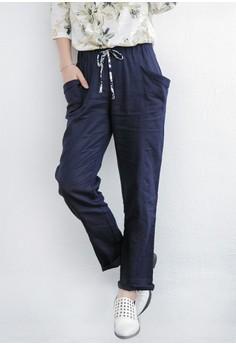 Clean Cut Cotton Trousers