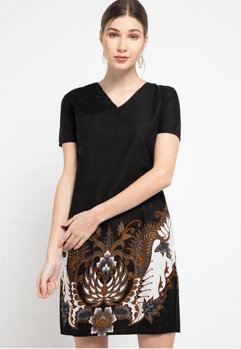 Rianty Batik black Dress Zemora E8A18AAC670CF2GS_1