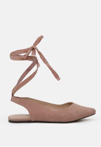 London Rag beige Ankle Strap Lace up Sandal 5C23ASHE32EDD1GS_1