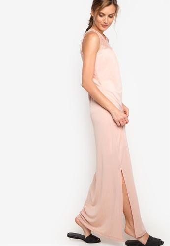 Mango pink Blond Long Dress MA134AA43TAUPH_1