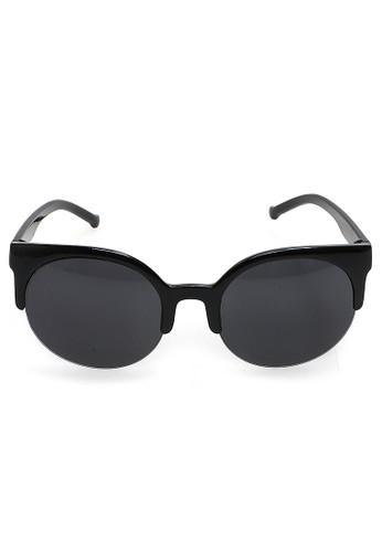Hamlin black Liana Sunglasess Kacamata Fashion Vintage Wanita Cat Eye UV Protection Material PC ORIGINAL - Black 10561GL6B36B11GS_1