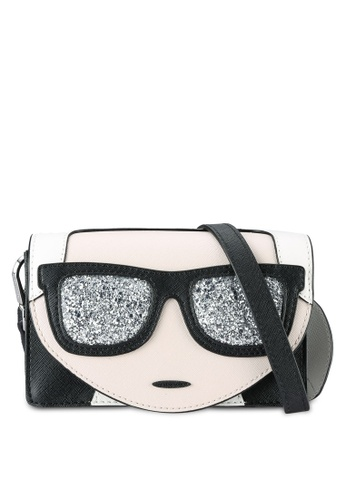 KARL LAGERFELD black K/Ikonik Mini Crossbody Bag KA533AC55NYMMY_1